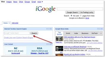 igoogle custom search