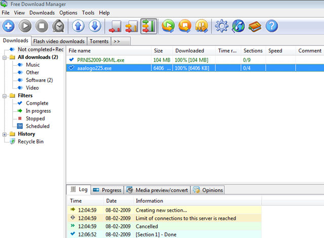 Integrate the free download manager with Google chrome or