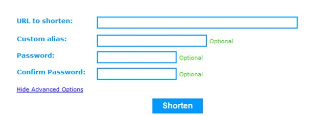 Shorten URL With Password Protection For Extra Privacy