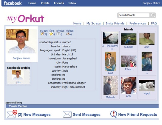 orkut application_with_facebook