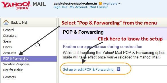 How To Configure POP Settings For Yahoo Mails In Outlook