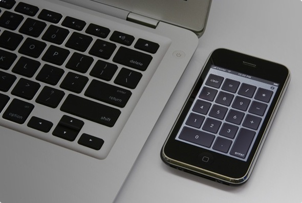 Use iPhone as Numeric Key Pad with Laptop