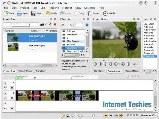 kdenlive-main-screen