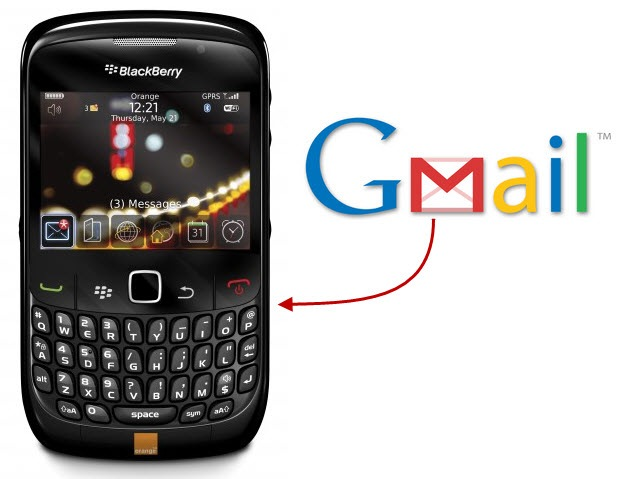 Setup Gmail on BlackBerry