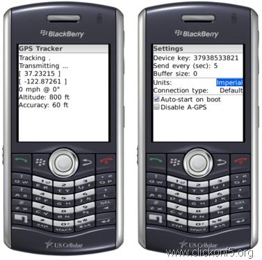 BlackBerry GPS Tracker