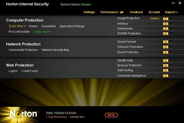 Norton Internet Security 2011 beta