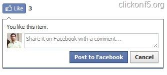 Facebook Like Option