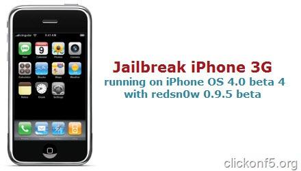 iphone 3g jailbreak