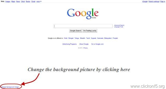 change google homepage