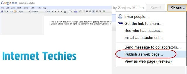 How To Index Documents Of Google Docs On Search Engines - How do you create a google doc