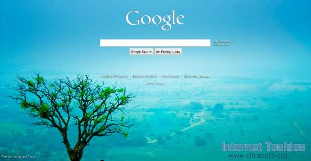 change background image of google homepage