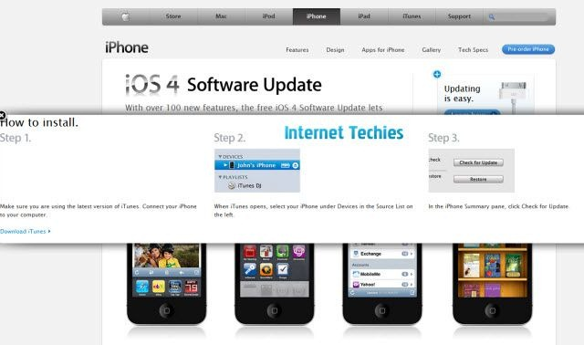 Apple iOS 4 Software Update for iPhone and iPod Touch