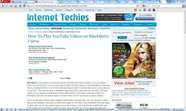 Internet Techies on Opera 10.60 RC1