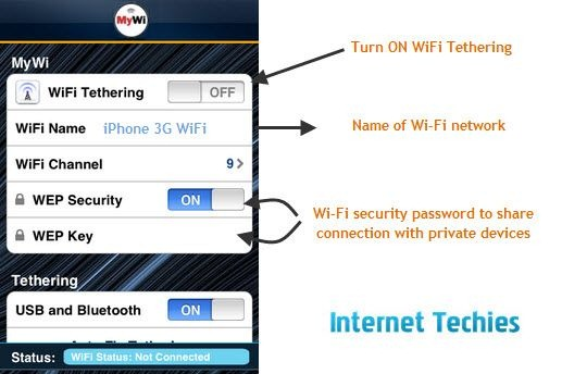 Turn iPhone into Wi-Fi Hotspot and Share 3G Connection on iPad Wi-Fi