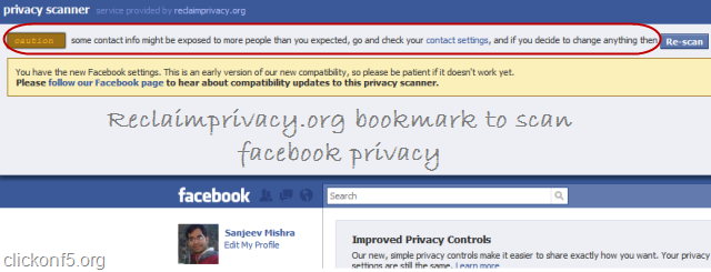 scan facebook privacy