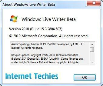 About Windows Live Writer 2010 beta