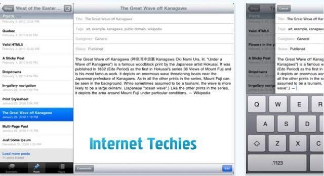 wordpress 2.5 app for ipad
