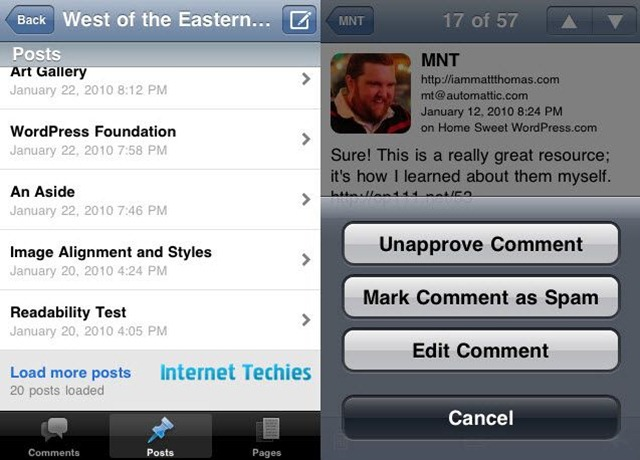 wordpress 2.5 app for iphone