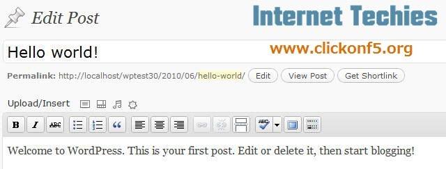 wordpress shortlink