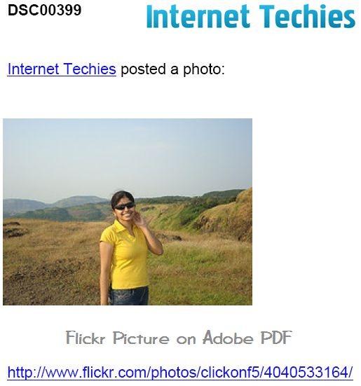 Flickr Photo taken to PDF File