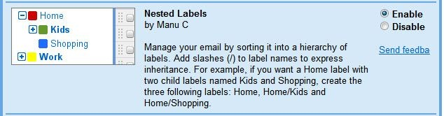 gmail nested labels
