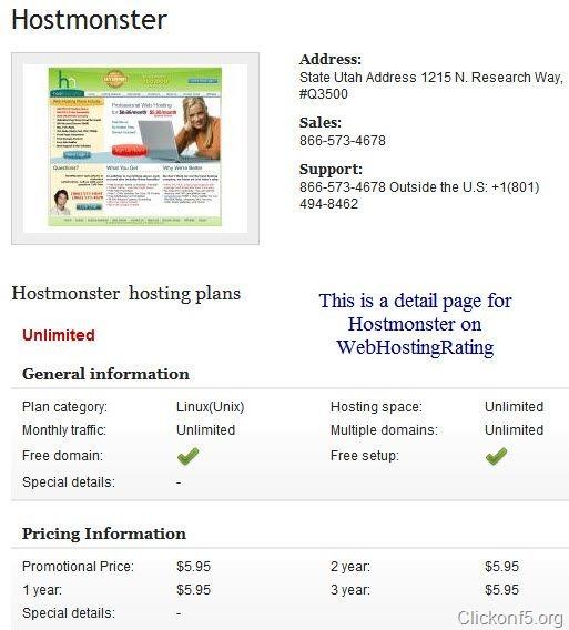 hostmonster on webshotingrating