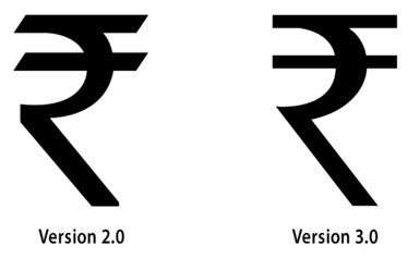 rupee font versions