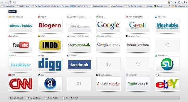 Speed dial on Chrome