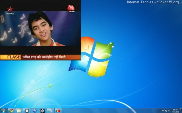 Mundu TV running on Windows 7 PC