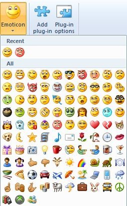 windows live writer emotions