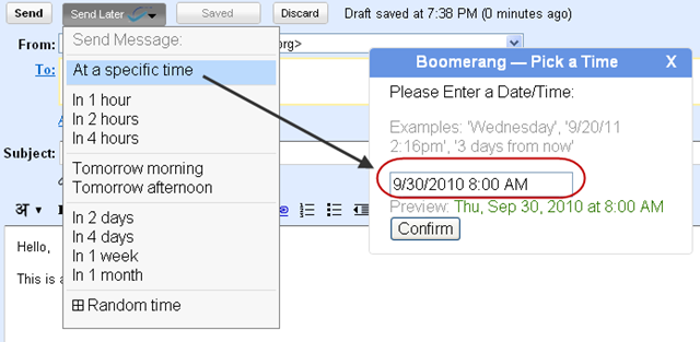 boomerang schedule on gmail