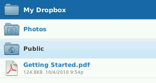 Dropbox on BlackBerry