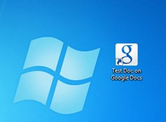 Google Docs shortcut on desktop