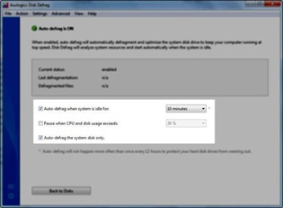 auto defragmentation windows