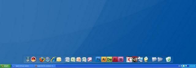 windows desktop dock