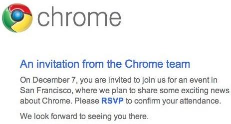 google chrome event