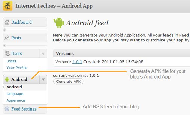 android-app-wordpress-settings