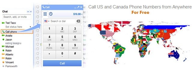From Anywhere, Call the US and Canada Phone Numbers for Free