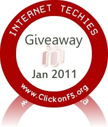 Giveaway Jan 2011