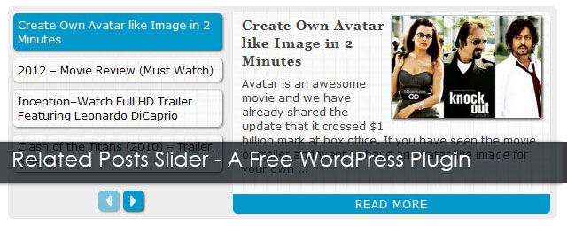 Related Posts Slider WordPress plugin