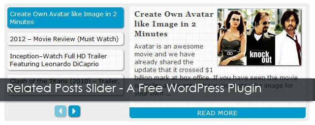 Related Posts Slider WordPress Plugin