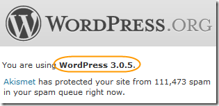 WordPress 3.0.5