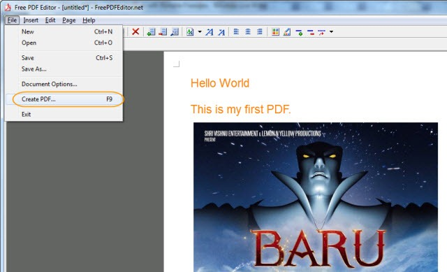 Create PDF Documents for Free with Portable Freeware