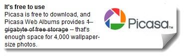 picasa-free-storage