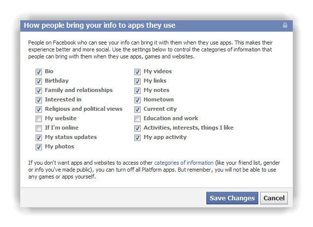 WARNING - Facebook Friends can Share Your Personal Information with