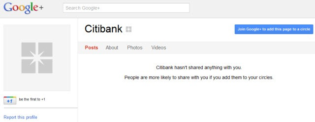 Citibank - Fake Google  Page