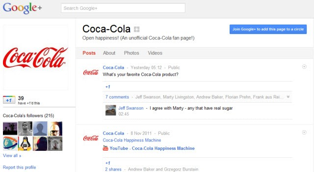 Coca Cola - Fake Google  Page