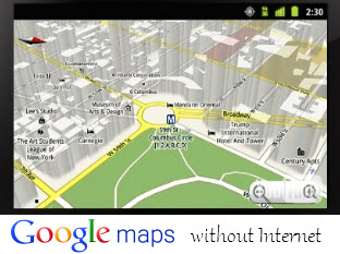 Offline browsing Google Maps