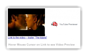 Chrome Extension to let you preview YouTube Video from a link on any website