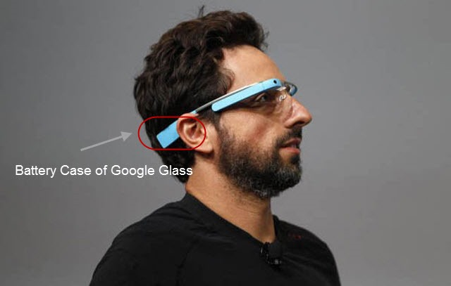 Sergey Brin with Google Glass at an event